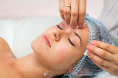 Girl with a beautician at spa salon Stock Photography