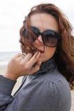The girl beautiful. The girl at sea coast royalty free stock photos