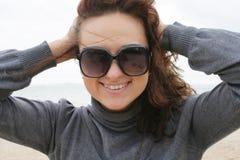 The girl beautiful. The girl at sea coast stock photos