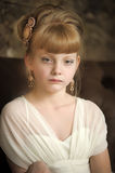 Girl with beautiful antique hairstyle Royalty Free Stock Image