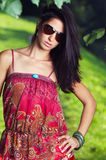 Girl  beautiful and colourful dress Stock Images
