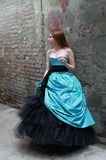 Girl in the beautiful dress Stock Photo