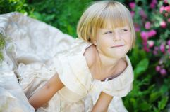 The girl in a beautiful dress Royalty Free Stock Photos