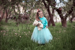 Girl in a beautiful dress Stock Photography