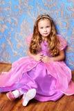 Girl in beautiful dress stock photography