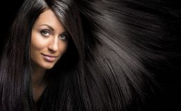 Girl with beautiful fresh skin, natural makeup Stock Images