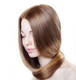 Girl with beautiful hair Stock Photography