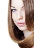 Girl with beautiful hair Stock Photos