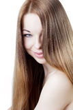 Girl with beautiful hair Royalty Free Stock Image