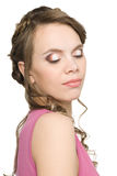 Girl with beautiful hair and make-up Royalty Free Stock Photos