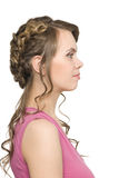 Girl with beautiful hair and make-up Royalty Free Stock Images