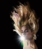 Girl with beautiful hair. Royalty Free Stock Photos