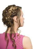 Girl with beautiful hair styling Stock Photography