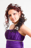 Girl with a beautiful hairdress. Stock Photography
