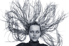 The girl with a beautiful hairdress Stock Photo