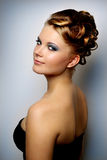 Girl with beautiful hairstyle Royalty Free Stock Photo
