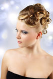 Girl with beautiful hairstyle Stock Image
