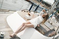 girl with beautiful legs Stock Photos