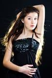 Girl with beautiful long hair Stock Photos
