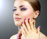 Girl with beautiful make-up Royalty Free Stock Photo
