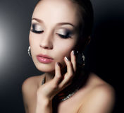 Girl with beautiful make-up Stock Photography