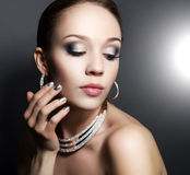 Girl with beautiful make-up royalty free stock photography