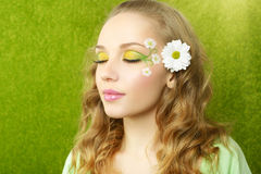 Girl with beautiful make-up on Stock Images