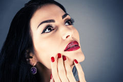 Girl with beautiful makeup Royalty Free Stock Photo