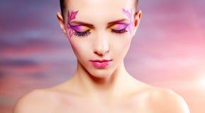 Girl with beautiful makeup Royalty Free Stock Photos