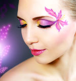 Girl with beautiful makeup Stock Photography