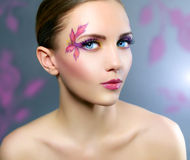 Girl with beautiful makeup Stock Photos