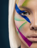 Girl with beautiful multicolor make-up Stock Photo