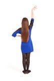Girl with beautiful natural brown hair Stock Photos
