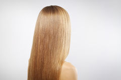 Girl with beautiful straight hair Royalty Free Stock Images