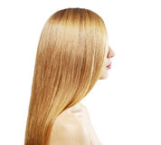 Girl with beautiful straight hair Stock Photography