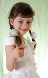 Girl in a beautiful white dress. Royalty Free Stock Image