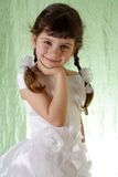 Girl in a beautiful white dress. Stock Photos