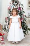 Girl in a beautiful white dress Stock Photo