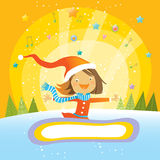 Girl beautiful winter Royalty Free Stock Photo