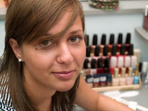 Girl at the Beauty Center Stock Image