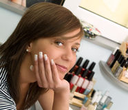 Girl at the Beauty Center Stock Images