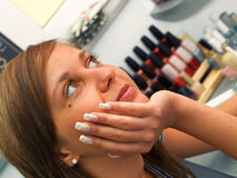 Girl at the Beauty Center Stock Photo