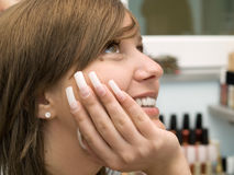 Girl at the Beauty Center Stock Photography