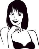 Girl beauty face, portrait Stock Images