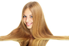 Girl with beauty long hair Royalty Free Stock Photography