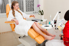 Girl in a beauty salon Stock Photography