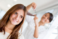 Girl at the beauty salon Royalty Free Stock Photography