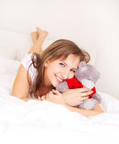 Girl on the bed Royalty Free Stock Photo