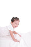 Girl on the bed Royalty Free Stock Images