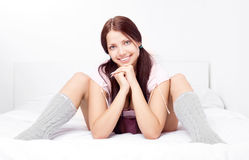 Girl in bed Stock Photo